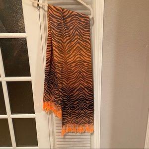 Accessories - Unique Cashmere scarf in Zebra print like new